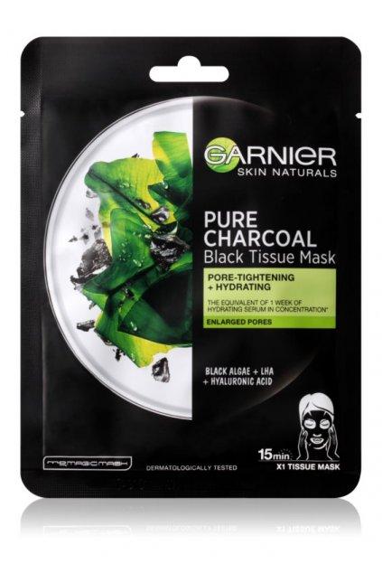 garnier skin naturals pure charcoal cerna textilni maska s extraktem z morskych ras 5