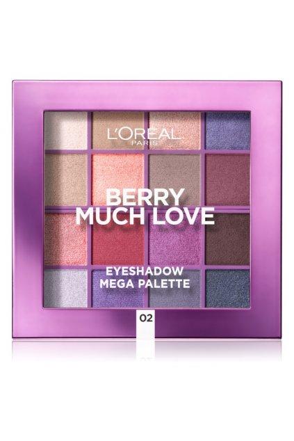 loreal paris eyeshadow mega palette berry much love paleta ocnich stinu 2