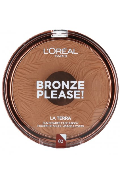 Loreal Bronze Please La Terra Puder Bronzujacy Do Twarzy I Ciala 02 Capri Naturale mini