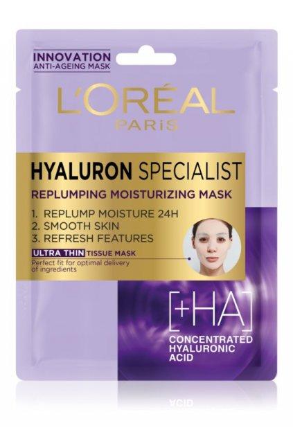 loreal paris hyaluron specialist platynkova maska