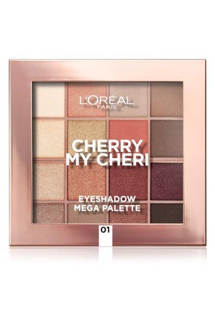 loreal paris eyeshadow mega palette cherry my cheri paleta ocnich stinu 4