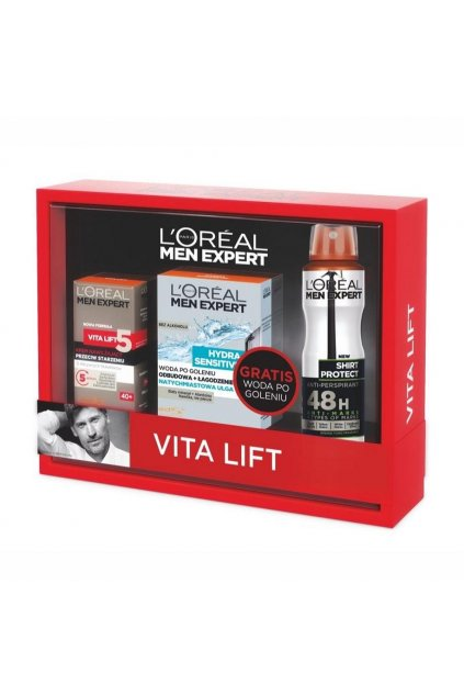 loreal vita lift denni krem 50ml hydra sensitive voda po holeni 100ml shirt protect antyperspirant 150ml sprej 1