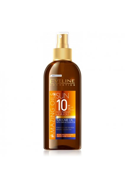 eveline cosmetics sun care olej na opalovani ve spreji spf 10