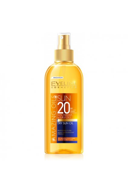 eveline cosmetics AMAZING OIL DRY opalovaci olej SPF 20