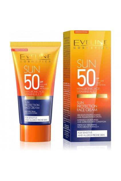 eveline cosmetics Sun Care krem na oblicej SPF50