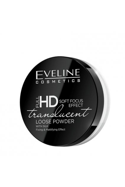 Eveline Cosmetics Full HD Translucent White Powder pudr s hedvabim