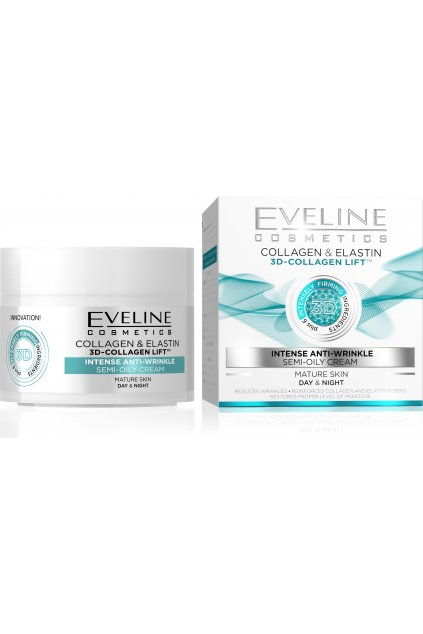 eveline cosmetics D COLLAGEN LIFT INTENSE ANTI WRINKLE DAY NIGHT CREAM 50ML