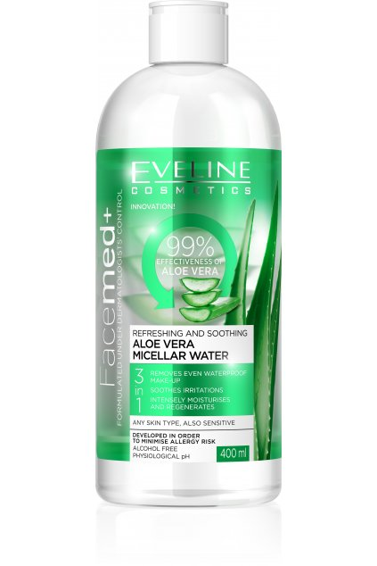 eveline cosmetics facemed micelarni voda s aloe vera