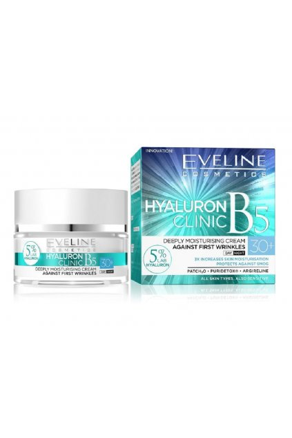 eveline cosmetics hyaluron clinic day and night cream 30 50ml