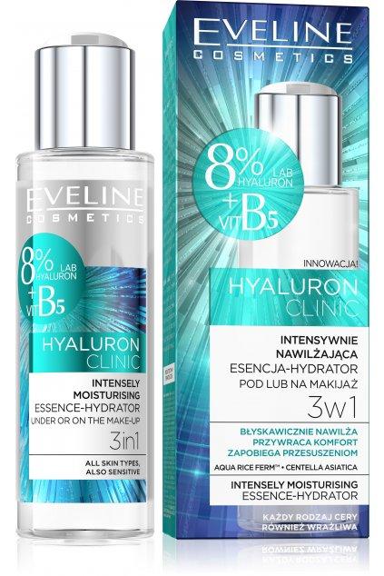 eveline cosmetics hyaluron clinic intenzivne hydratacni serum 3 v 1
