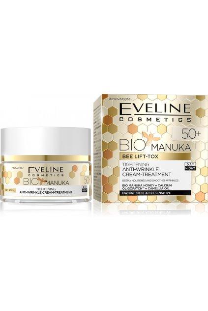 eveline cosmetics bio manuka zpevnujici a vyhlazujici krem 50