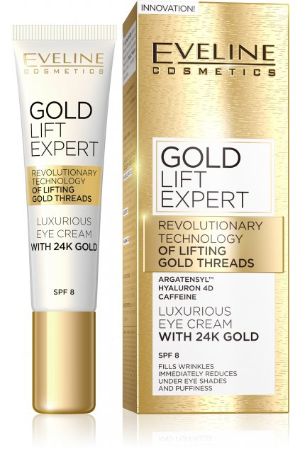 eveline cosmetics gold lift expert luxusni krem na oci a vicka s 24karatovym zlatem