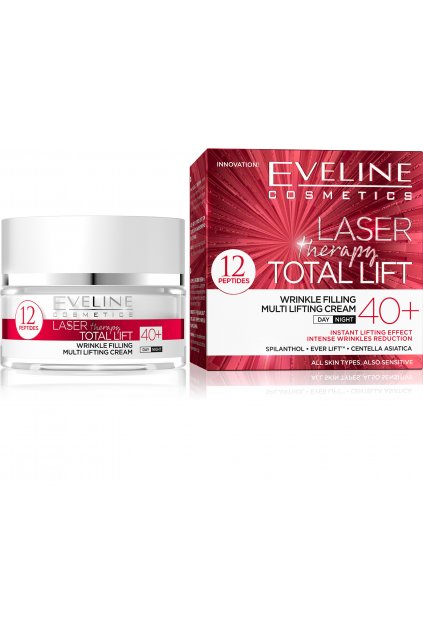 eveline cosmetics laser therapy total lift denni i nocni protivraskovy krem 40