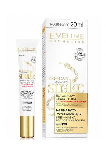 eveline cosmetics korean exclusive snake ocni krem s botulin neurolifting 20 ml
