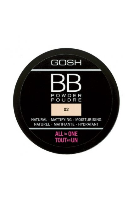 gosh bb POWDER matujici pudr odstin 2