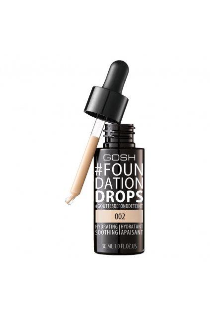 gosh foundation drops lehky make up ve forme kapek spf 10 002 ivory
