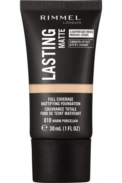 rimmel dlouhotrvajici make up lasting matte full coverage mattifying foundation 30 ml 010