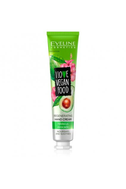 eveline cosmetics I LOVE VEGAN FOOD NOURISHING HAND CREAM avocado and hibiscus 50ML