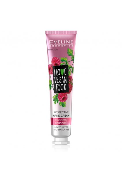 eveline cosmetics I LOVE VEGAN FOOD NOURISHING HAND CREAM raspberry and coriander 50ML