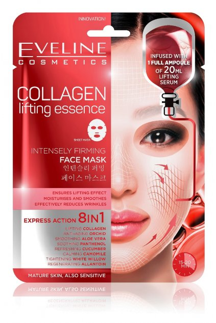 Eveline cosmetics Collagen liftingujici textilni maska