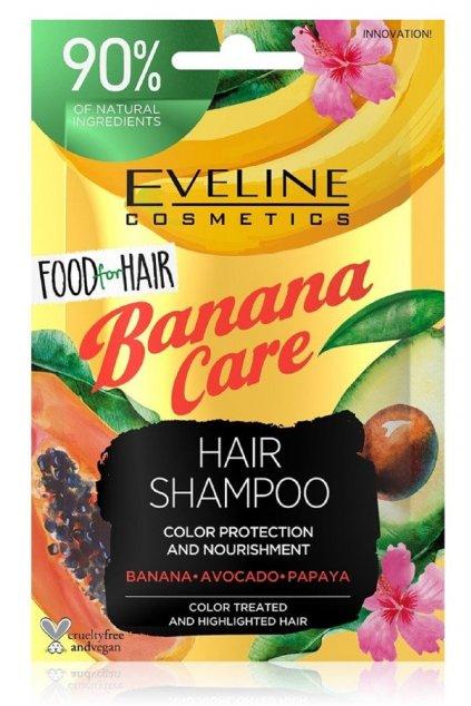 eveline cosmetics food for hair banana care posilujici sampon pro slabe vlasy s tendenci vypadavat