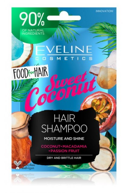 eveline cosmetics food for hair sweet coconut hydratacni sampon pro suche vlasy