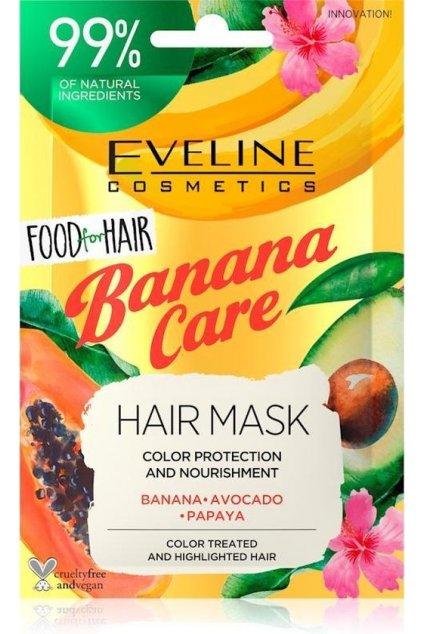 eveline cosmetics FOOD FOR HAIR BANANA CARE HAIR MASK 20 ML 1