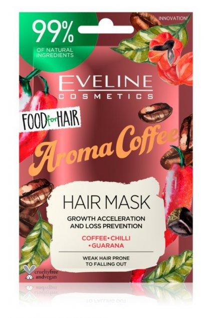 eveline cosmetics food for hair aroma coffee posilujici maska pro slabe vlasy s tendenci vypadavat