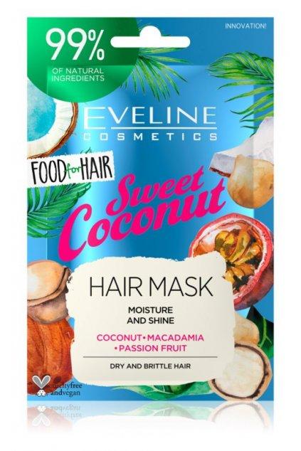eveline cosmetics food for hair sweet coconut hydratacni maska na vlasy