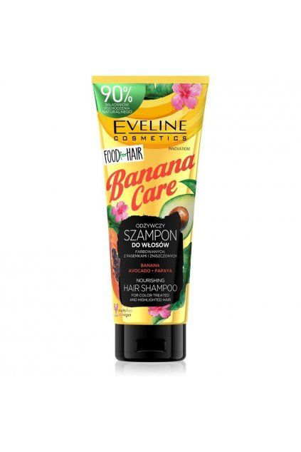 eveline cosmetics FOOD FOR HAIR BANANA CARE HAIR SHAMPOO 250 ML
