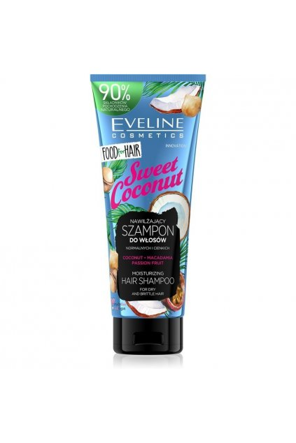 eveline cosmetics food for hair sweet coconut hydratacni sampon pro suche vlasy 250 ml