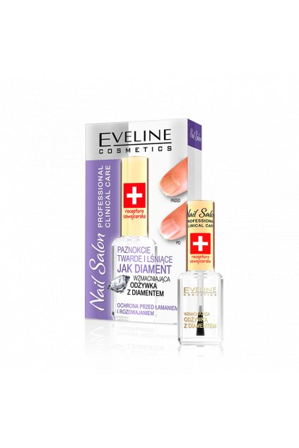 eveline cosmetics nail salon kondicioner s diamantem 12ml