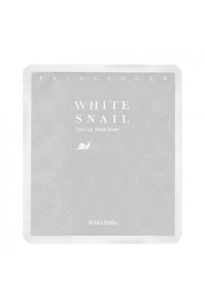 holika holika prime youth white snail tone up sheet cloth mask with snail extract
