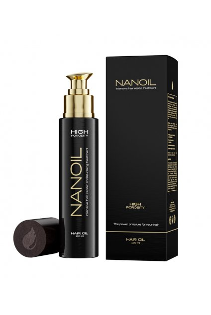 nanoil high porosity Vlasovy olej pro vlasy s vysokou porozitou 100 ml 4