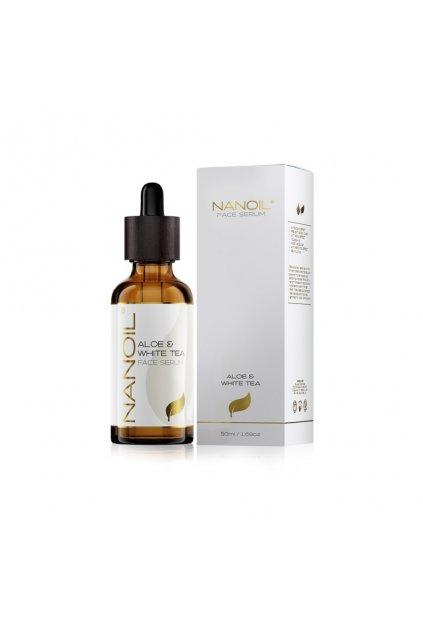 nanoil Aloe faceserum pletove serum s aloe a bilym cajem 50 ml
