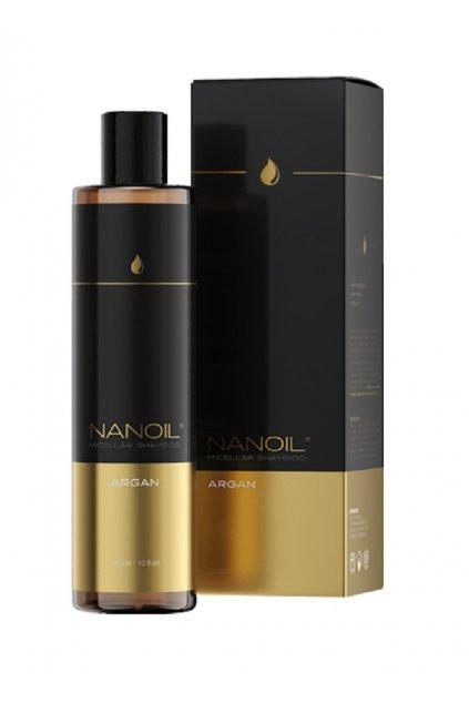 nanoil ARGAN 01 SHAMPOO micelarni sampon s arganovym olejem 300 ml