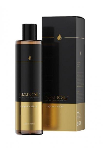 nanoil SILK 02 SHAMPOO micelarni sampon s tekutym hedvabim 300 ml