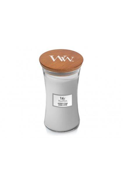 woodwick vonna svicka velka vaza lavender and cedar 609 g 1