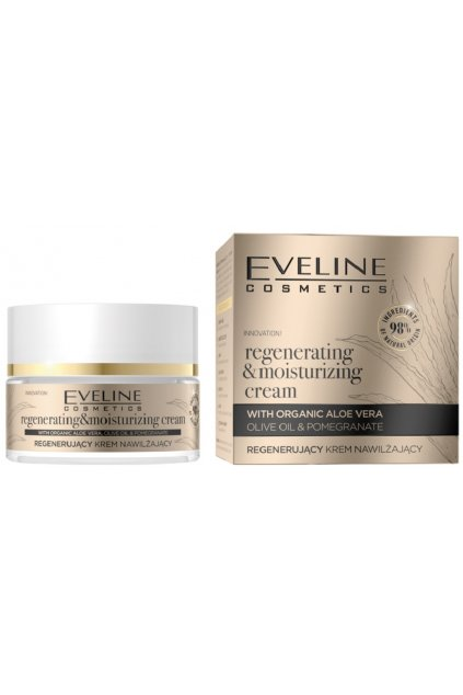 Eveline Cosmetics Organic Gold regenerating moisturizing Cream 50 ml