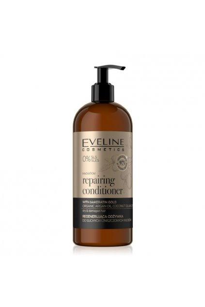 eveline cosmetics organic gold repairing conditioner 500ml vegan