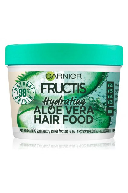garnier fructis aloe vera hair food hydratacni maska pro normalni az suche vlasy