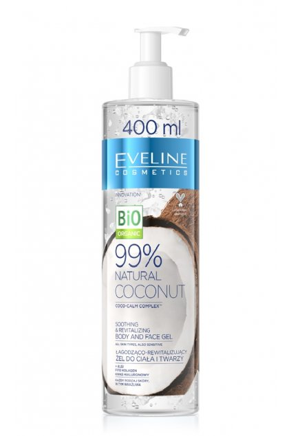 Eveline cosmetics Bio Organic 99 Natural coconut body and face gel 400ml 1