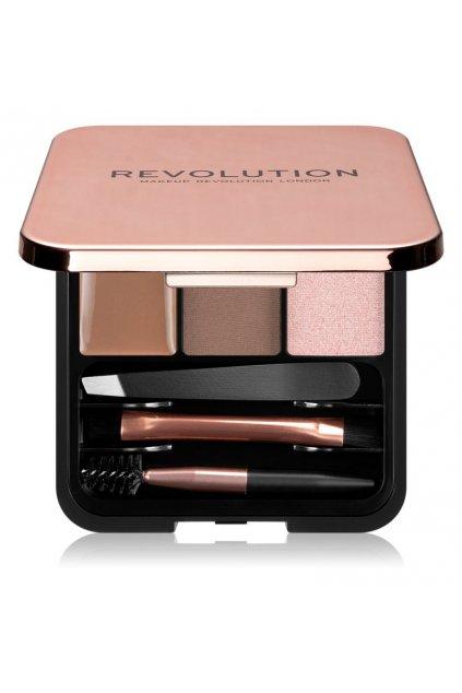 makeup revolution brow sculpt kit sada pro dokonale oboci brown