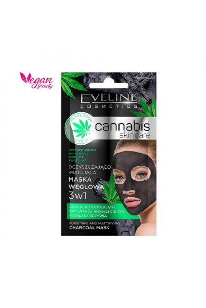 eveline cosmetics cannabis cistici gelova maska 7 ml 2