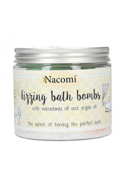 nacomi fizzing bath bombs pomeranc a zeleny caj 4ks 1
