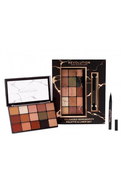 makeup Revolution Reloaded Serendipity Palette & Liner Set darkova sada