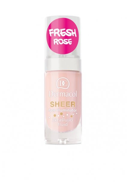 p1417 dermacol sheer face illuminator fresh rose rozjasnujici fluid