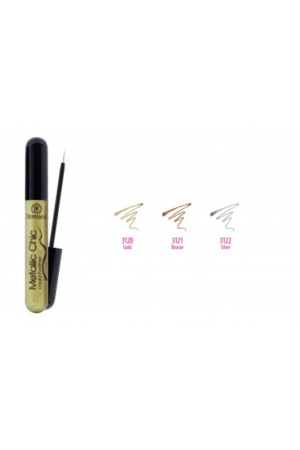 dermacol metallic chic liquid eyeliner 6ml