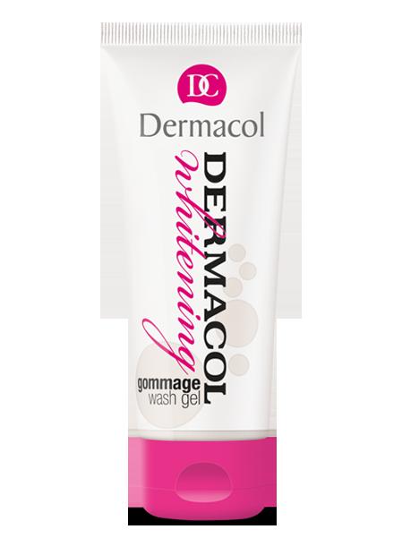 Levně Dermacol Whitening Gommage Wash Gel mycí gel s mikroperličkami 100 ml