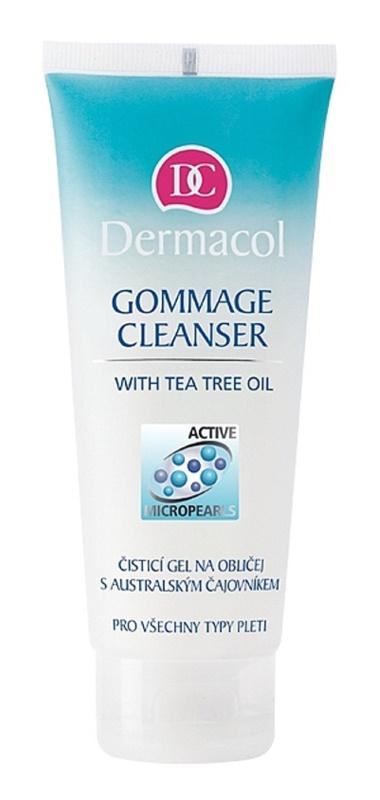 Dermacol Gommage Cleansing čisticí gel na obličej s australským čajovníkem 100 ml